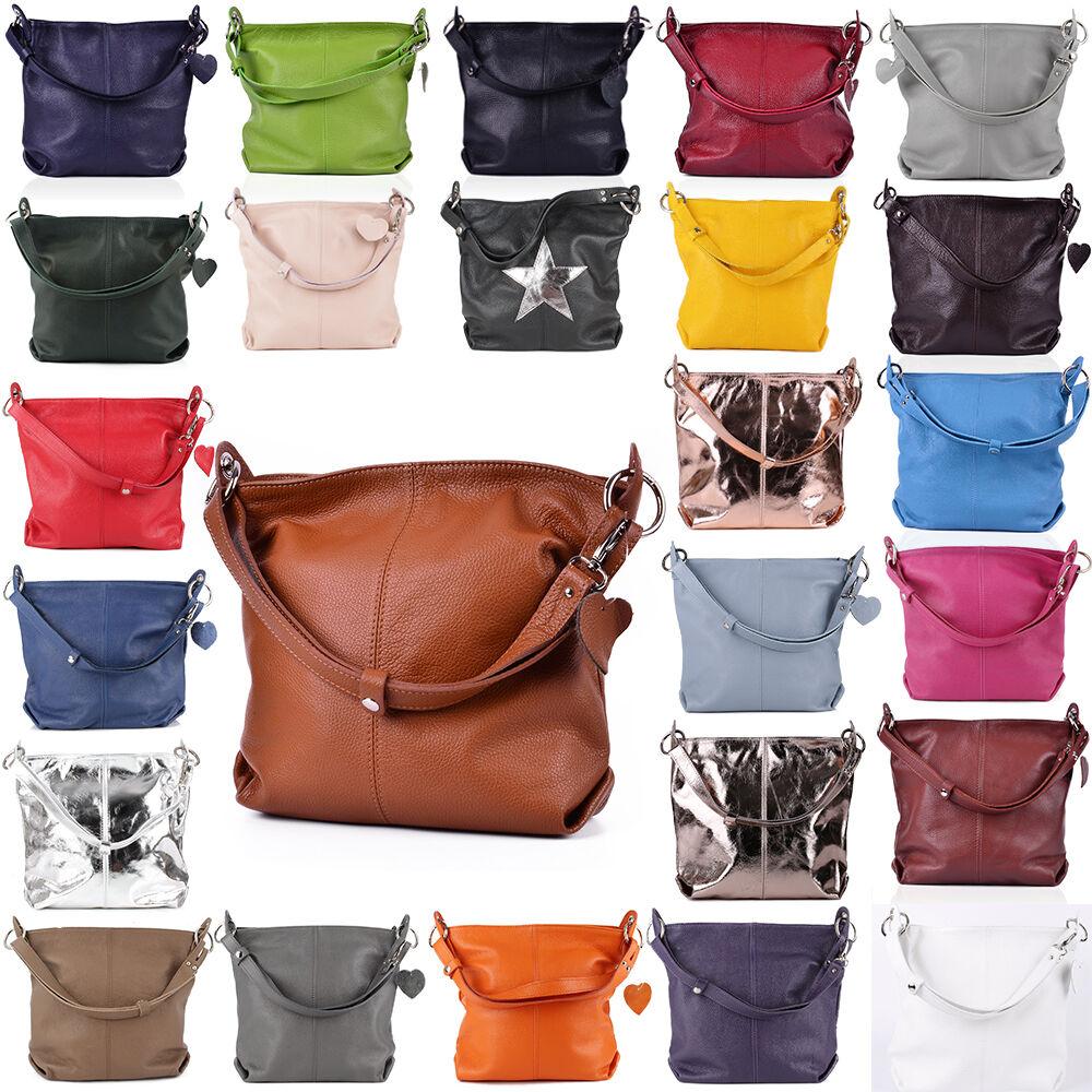 e3ef20c8b6a08 Tasche Handtasche Ital. Echt Leder Schultertasche Umhängetasche Ledertasche  NEU ...