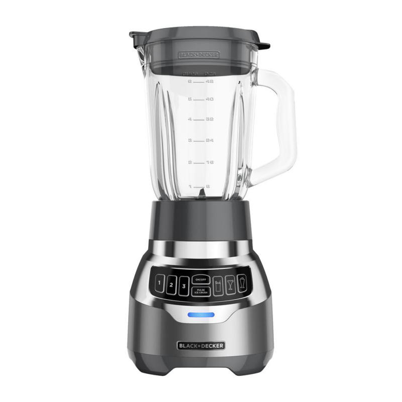 PowerCrush 48 oz. 3-Speed Silver Digital Blender with Quiet