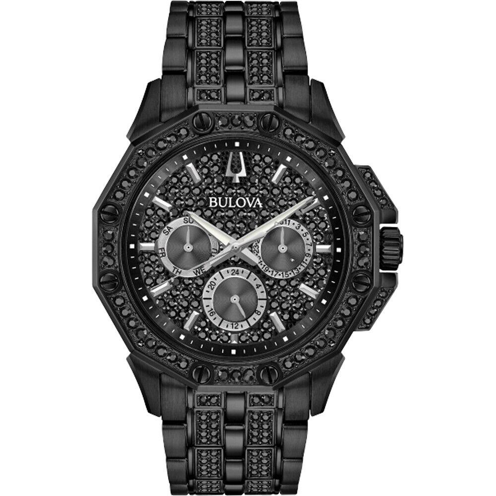 Bulova Octava Black Dial Men's Multifunction Watch 98C134