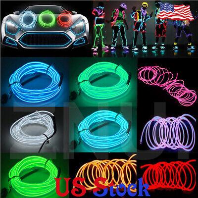 EL Wire Neon Lights Party Halloween Blacklight Run DIY Decoration 10/4/2/1 Pack