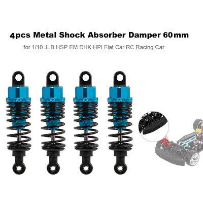 Car Parts - 4pcs RC Car Parts Metal Shock Absorber Damper 60mm For 1:10 Car RC Cars G5O8