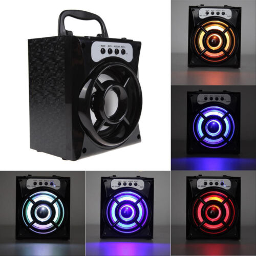 Bluetooth Wireless Speaker USB Super Bass Stereo TF AUX FM Radio LED Home Party