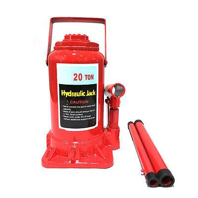 20T Ton Hydraulic Bottle Jack Axle Jack Automotive Hoist Lift Repair Manual Tool