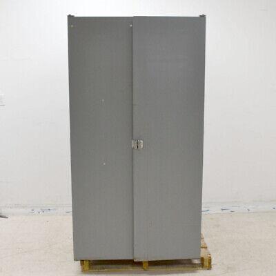 Light Gray 38x 24x 71 Steel 2-door 2-shelf Storage Cabinet 119 Plastic Bins