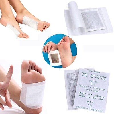 100 Detox Foot Pads Patch Detoxify Toxins Keeping Fit Health Care with Adhesive