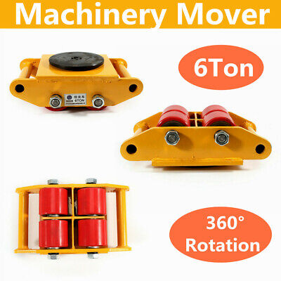4pcs 360 Rotation 6t Heavy Duty Industrial Dolly Skate Machinery Roller Mover