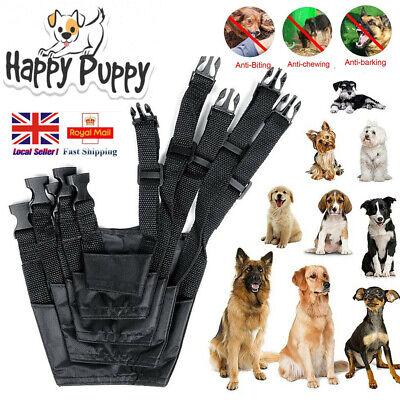 Adjustable Dog Safety Muzzle Biting Barking Chewing Small Medium Large UK