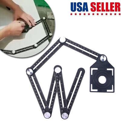 6 Folding Ceramic Tile Hole Locator Adjustable Multi-Angle Ruler Measuring Tool
