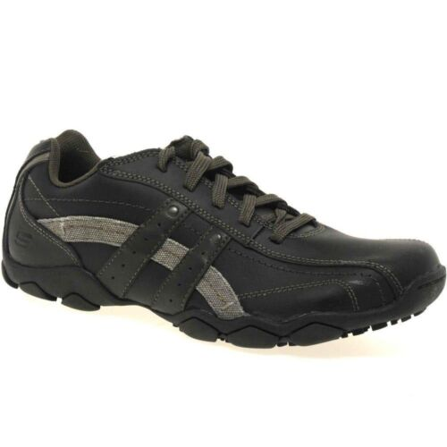 skechers mens lace up casual shoes ebay