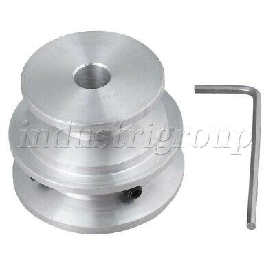 Aluminum 2-step M5 Thread V-shape Groove Pulley D40x30x8mm Triangle Belt Tools