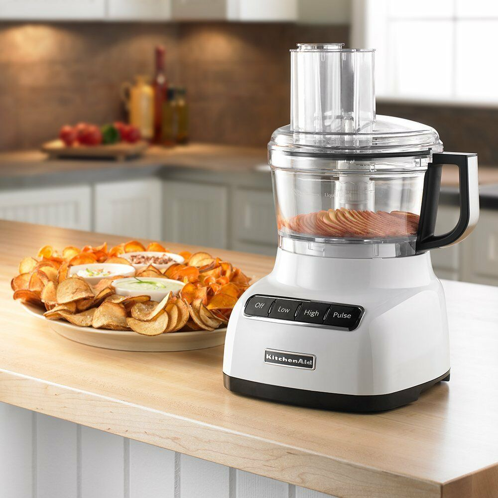 KitchenAid RKFP0711 7 Cup Food Processor Adjustable slicing disc Wide Mouth Feed