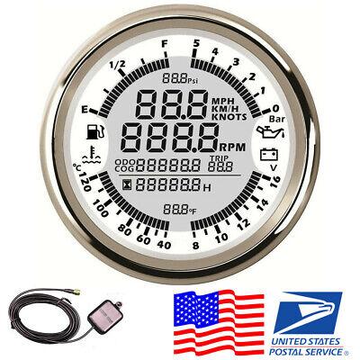 Universal 6IN1 12V Digital GPS Speedometer Tachometer Oil Pressure Voltmeter -US comprar usado  Enviando para Brazil