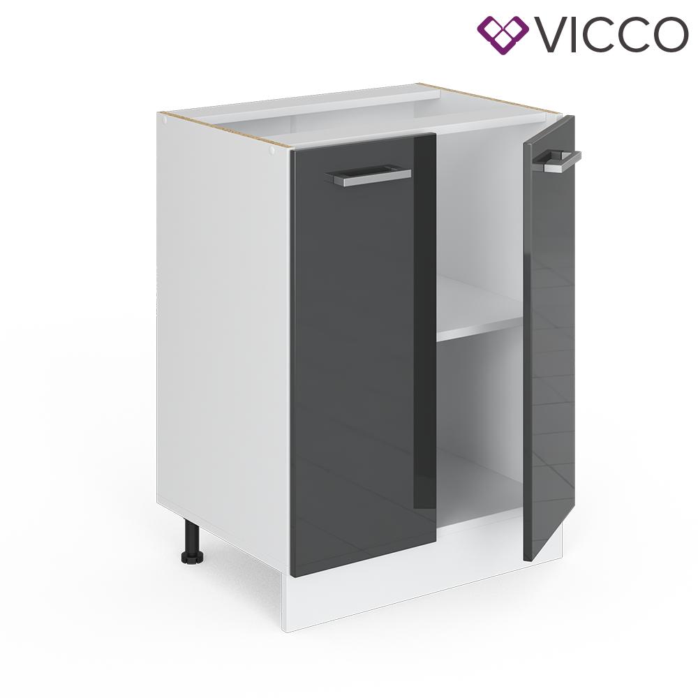 VICCO Küchenschrank Hängeschrank Unterschrank Küchenzeile R-Line Unterschrank 60 cm anthrazit
