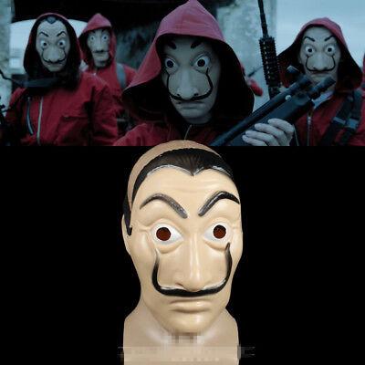 US!2018 La Casa De Papel Face Mask Salvador Dali Mascara Money Heist CosplayProp