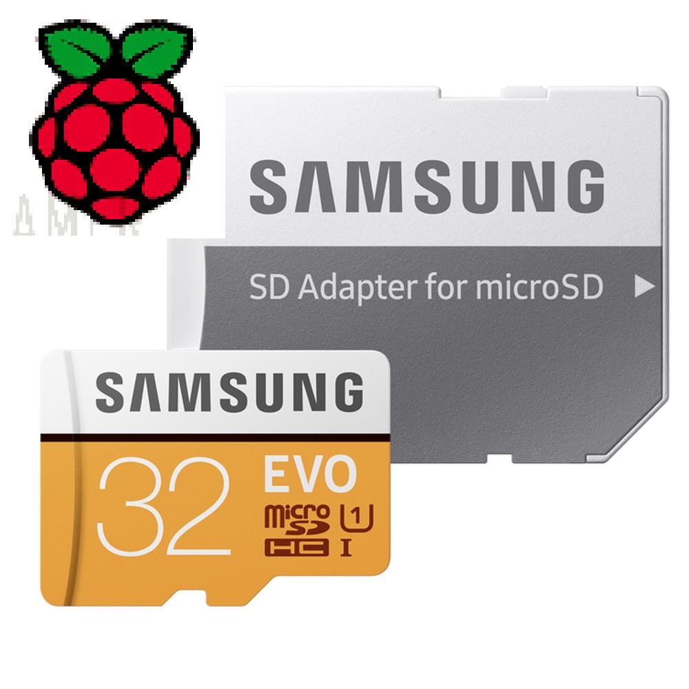 Raspberry Pi 16 / 64 / 32GB Preloaded NOOBS microSD Card Pi