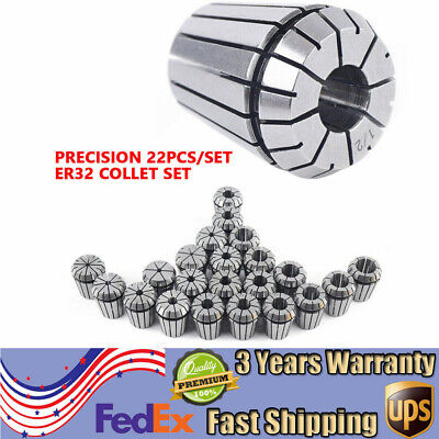 22pcsset Er32 Collet Set Metric Size High Precision Spring Clamping Collet New