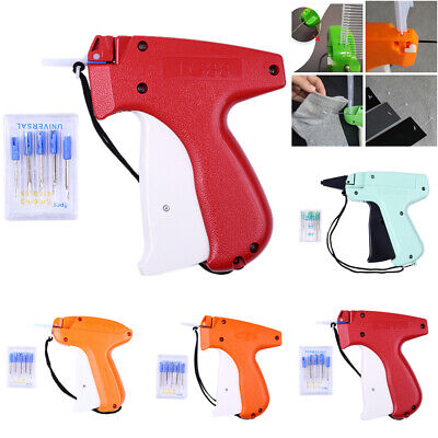 Clothes Garment Brand Price Label Tagging Tag Gun 1000 Plastic Barbs 5 Needles