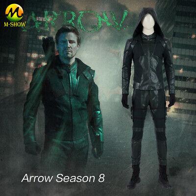 Green Arrow Cosplay Costume Final Season Oliver Queen Cosplay Suit for Halloween