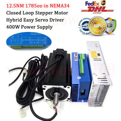 12.5nm Closed Loop Stepper Motor Nema34 Hybrid Servo Cnc Laser Router Engraving