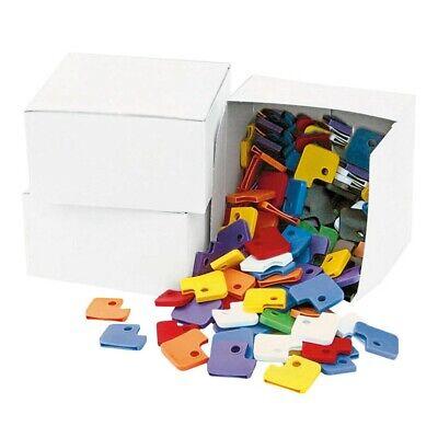 chlüsselkappen eckig Kunststoff Schlüsselanhänger 10 Stück! (Kunststoff-schlüsselanhänger)