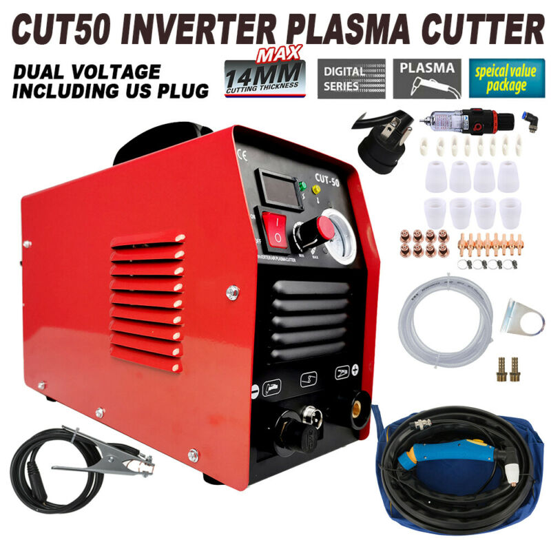 50 AMP Plasma Cutter CUT50 Welding Cutting Machine Digital Inverter 110/220V US