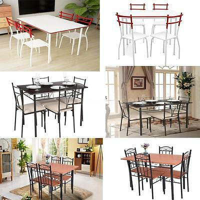 سفرة جديد 5 Piece Dining Set Table & 4 Chairs Kitchen Breakfast Picnic Party J5K4
