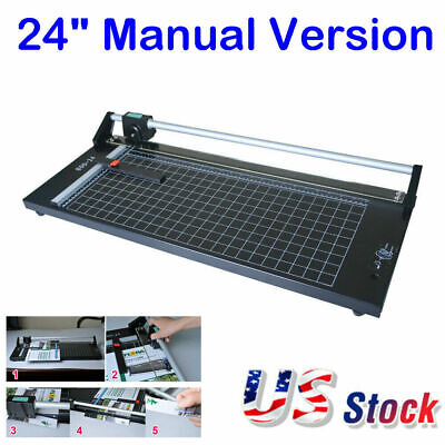 24 Precision Rotary Paper Trimmer Manual Sharp Photo Paper Film Cutter New