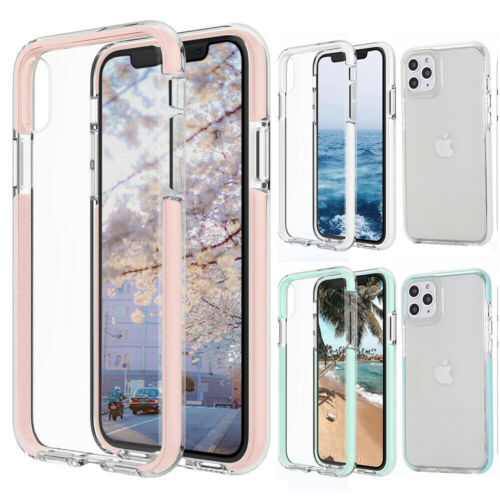 For iPhone 12 Pro Max mini 11 XR 7 8 Plus XSMax Case Clear C