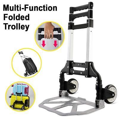 KERAIZ Hand Sack Truck Barrow Cart Trolley Heavy Duty Aluminium 80kg Foldable