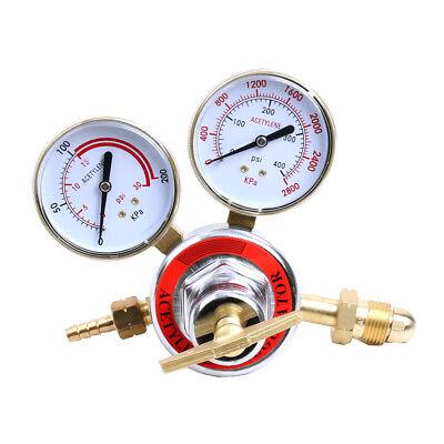 Welding Gas Gauge Welder Acetylene Regulator Torch Cutting Kits Cga510 0-400 Psi