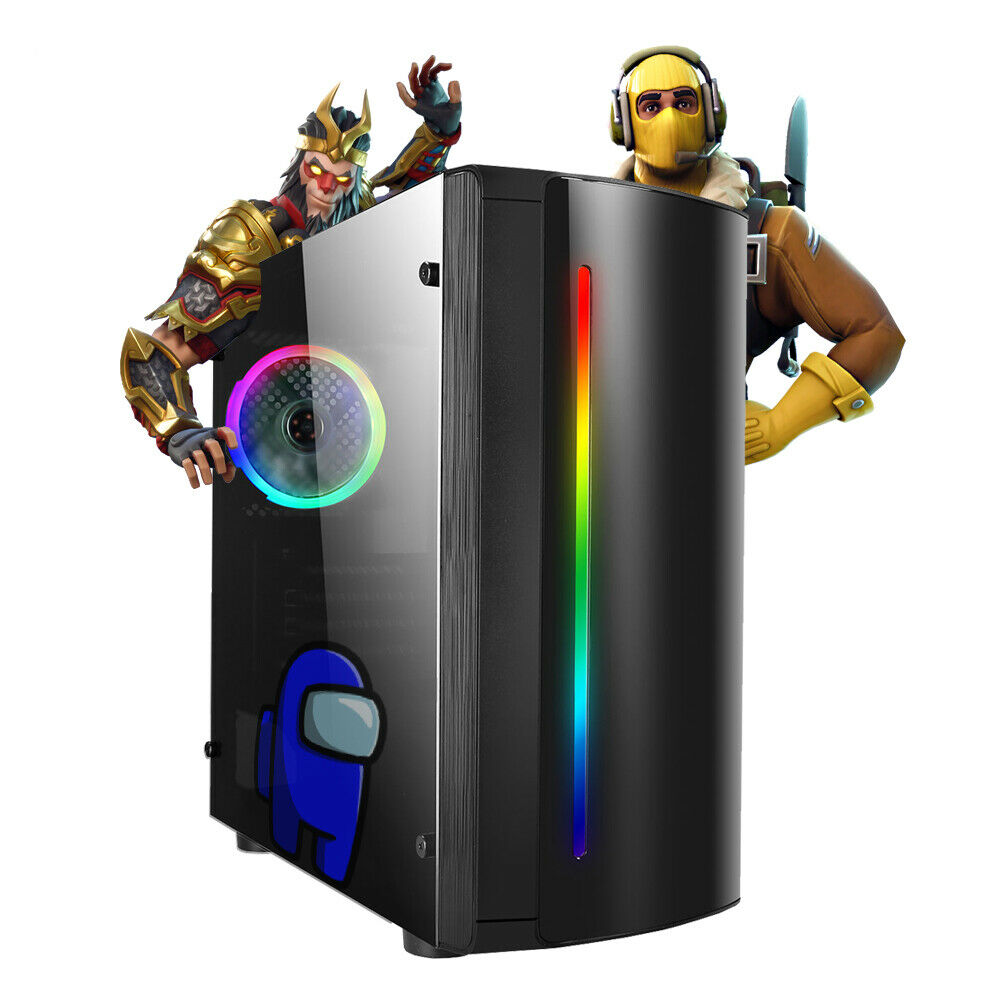 Computer Games - Gaming PC Computer Intel Quad i3 8GB RAM 500GB HDD WINDOWS 10 2GB GT710 RGB WiFi