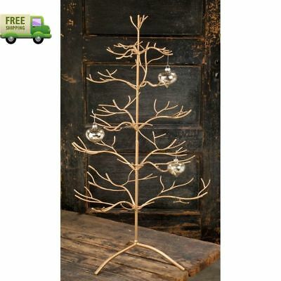 Appealing Decorations Metal Christmas Ornament Display Holder Tree Stand  Gold
