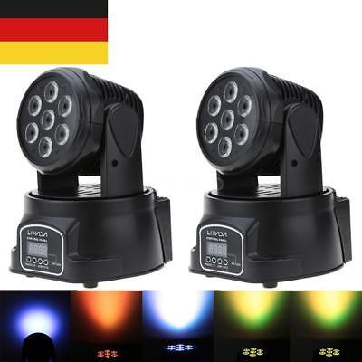 2X Lixada 100W DMX Moving Head RGBW LED Disko Bühne Licht Strobe 9/14Kanäle B7Y5
