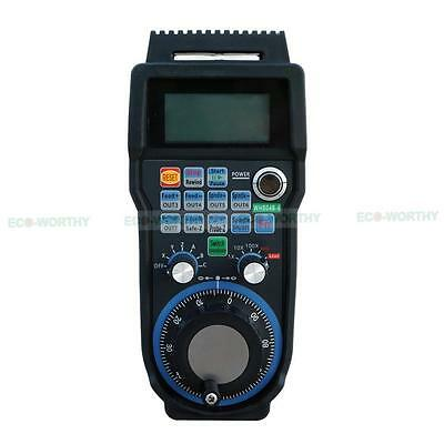 Cnc 6 Axis Usb 40m Wireless For Mach3 Mpg Handwheel Controller With Lcd Display