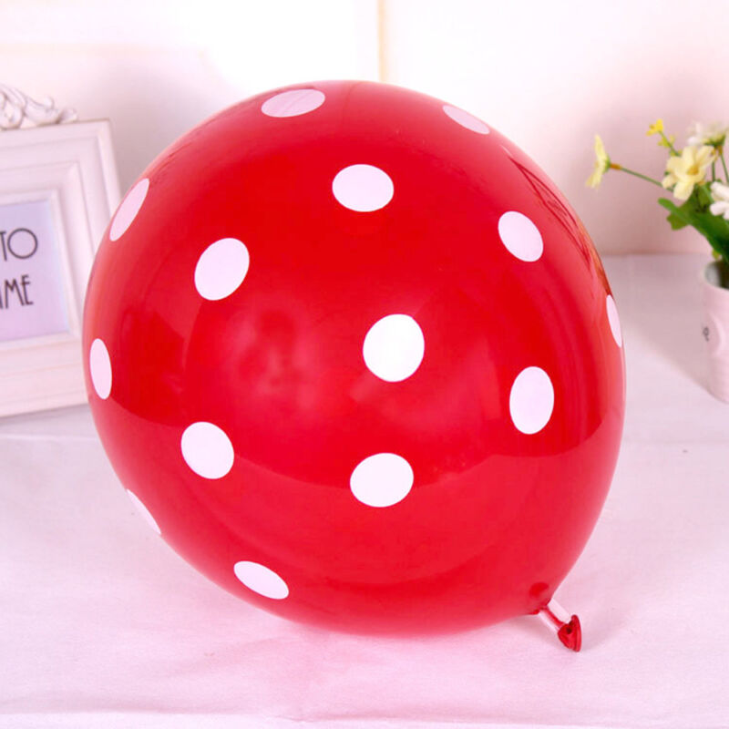10/20/50/100 Pcs Birthday Wedding Party Decorating Latex Polka Dot Balloons 12""