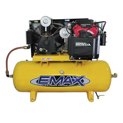 Emax Eges24120t 24 Hp 57 Cfm Gas 120 Gal. Stationary Air Compressor New