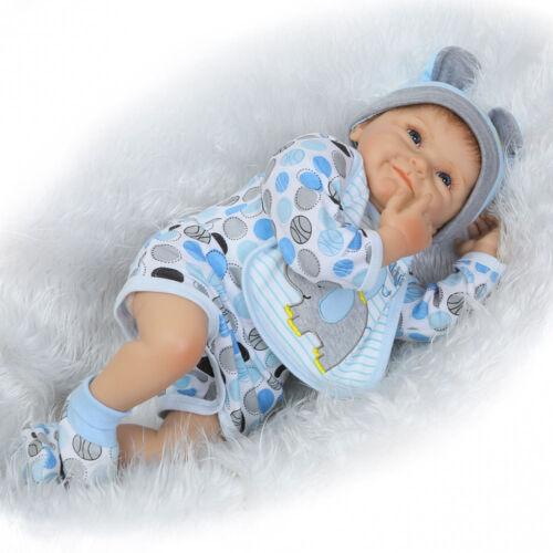 Realistic Reborn Baby Dolls Handmade Vinyl Silicone Lifelike Newborn Boy Doll
