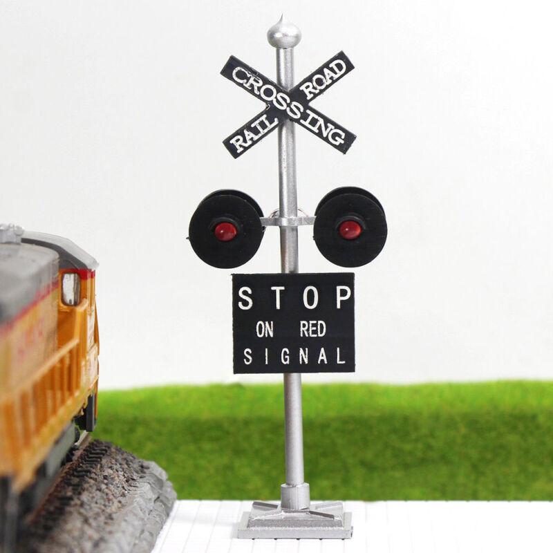JTD876R 6pcs HO Scale  Railroad Crossing Signals 4 heads LEDs made Long Life 12v