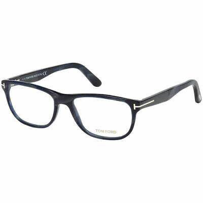 New Authentic Tom Ford Men's Square Eyeglasses Black w/Demo Lens FT5430 064
