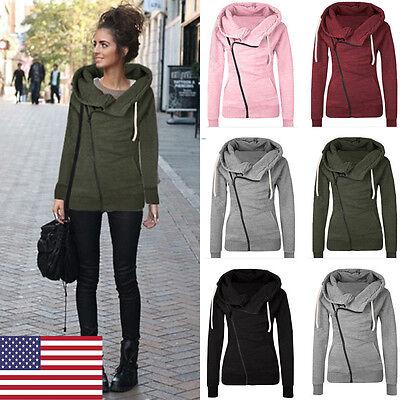 Women Fashion Winter Hooded Slim Coat Jacket Casual Warm Sportwear Outwear Us