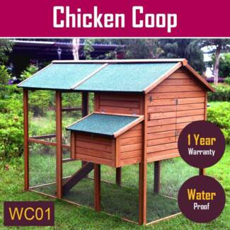 Large Rabbit Hutch Chicken Coop Triangle Hen Ferret Guinea Pig