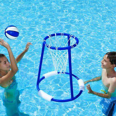 Water Basketball Game Floating Hoop Pool Games Lake Beach Float Hoops Backyard  - Water Basketball