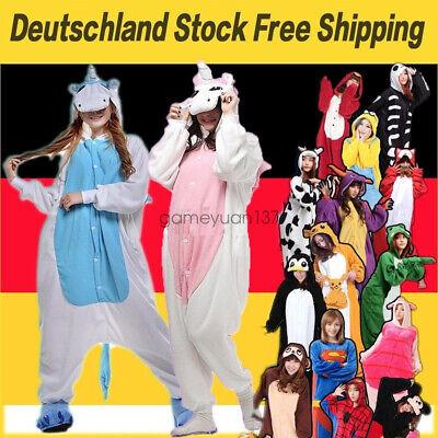 Erwachsene Tier Onesies Hai Stich Kigurumi Pyjama Kostüme Schlafanzug Unisex