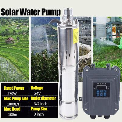 3 Dc Solar Water Pump Submersible Deep Well Pump Mppt Controller 1800lh 270w