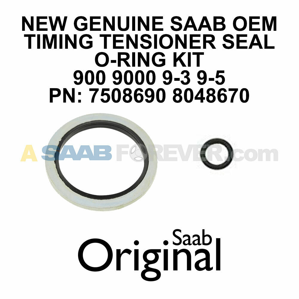 For Saab 9-3 9-5 900 9000 Chain Tensioner O-Ring Qualiseal 75 08 690