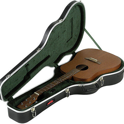 SKB 1SKB-8 Acoustic Dreadnought Economy Guitar Hard Case w/ Plush Interior