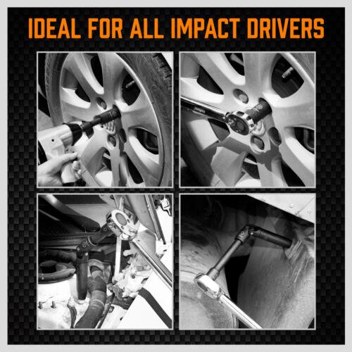 NEW 19 PIECES 1/2-INCH DRIVE DEEP IMPACT SOCKET SET AXLE HUB NUT 6-POINT METRIC CR-V