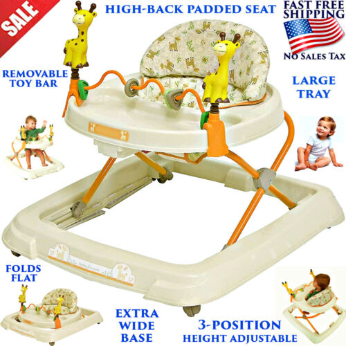 BABY WALKER ACTIVITY TOY FIRST STEP PUSH ALONG BOUNCER WALKING FOLDABLE PORTABLE