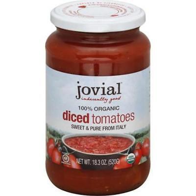 Organic Diced Tomatoes - Jovial-Organic Diced Tomatoes (6-18.3 oz jars)