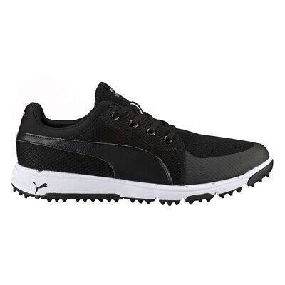 NEW Mens Puma Grip Sport Tech Golf Shoes Puma Black / White Sz 13 M - Ret $100